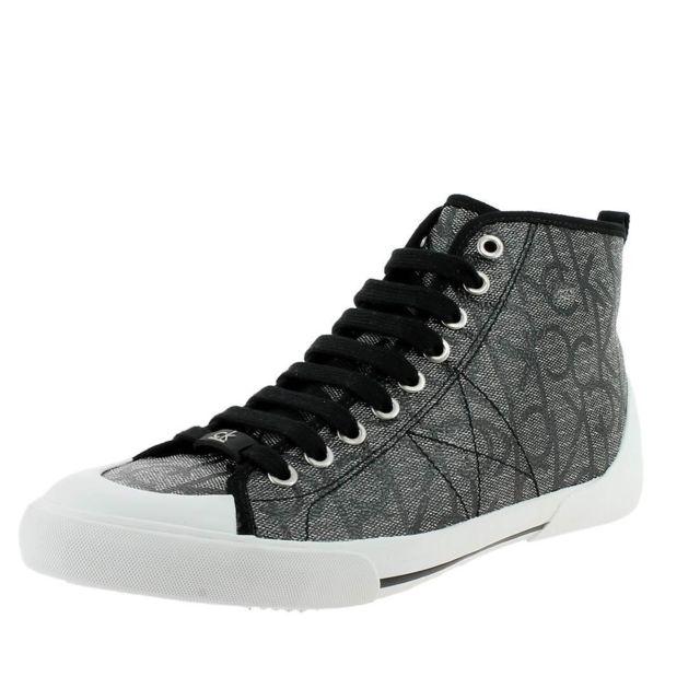 a872b8387cc Calvin Klein - Moda icono homme 011090 Gris - pas cher Achat   Vente  Baskets homme - RueDuCommerce