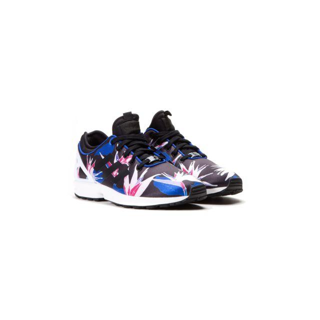 new list top design online shop Adidas - Baskets Zx Flux Nps B34467 Noir à Fleurs - pas cher ...