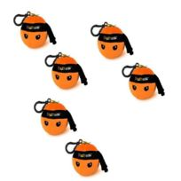 Ninjago Playtheme - Ninja Fruit Mini peluche strap sonore Orange 7cm