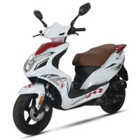 Scooter R8 Qt-22 50cc 4Temps Rouge/Blanc