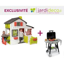 Smoby - Cabane enfant Friends House + barbecue