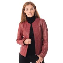 Enato - Blouson Osaka lamb ruby red
