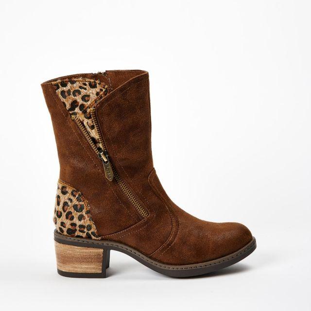13ffea6e209046 Lpb Shoes-les Petites Bombes - Bottine Blandine Leopard Choco Marron ...