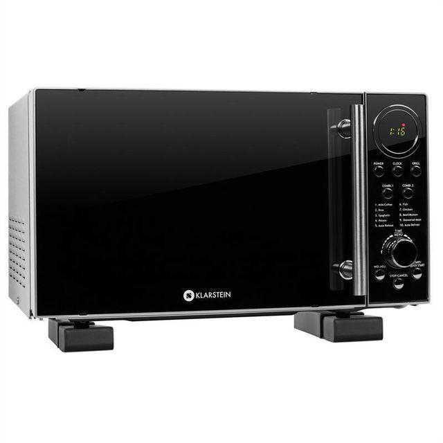 KLARSTEIN Set Micro-ondes Luminance Prime 700 W + support mural