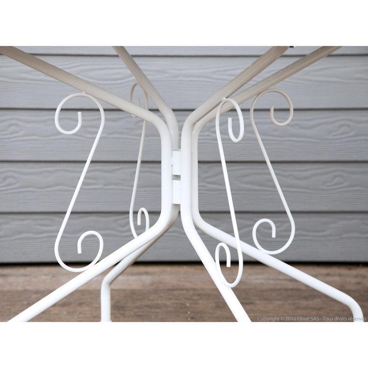 DLM - Table de jardin en acier ronde romantique diamètre ...