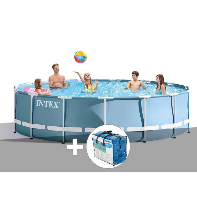 intex kit piscine tubulaire prism frame ronde 4 57 x 1. Black Bedroom Furniture Sets. Home Design Ideas