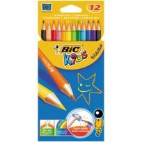 Bic Kids - crayon de couleur evolution - lot de 10 pochettes de 12 + 2 offertes