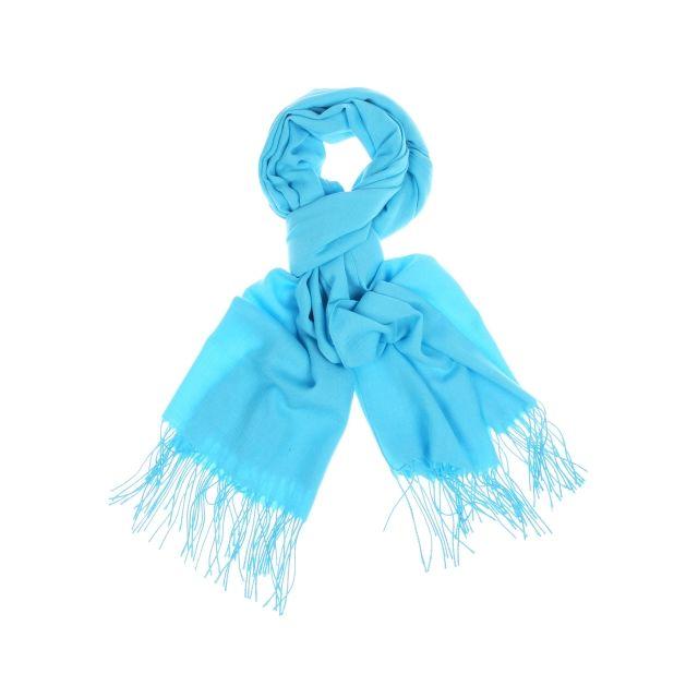 Touche Finale - Pashmina Turquoise - pas cher Achat   Vente Echarpes -  RueDuCommerce 7ccd1bb0b24