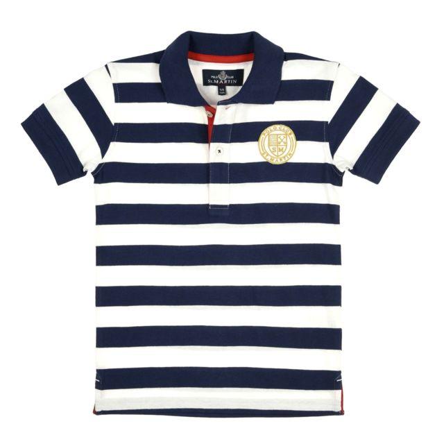 3b0e078d64 Polo Club St. Martin - Polo Club St Martin - Polo marinière garçon  P7182L041 -