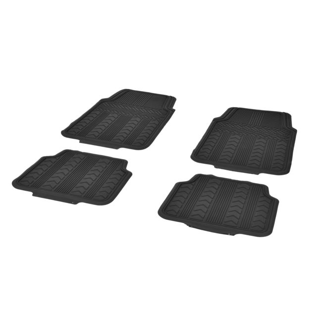 dbs tapis de sol voiture auto 4 pi ces avant et arri re caoutchouc universel. Black Bedroom Furniture Sets. Home Design Ideas