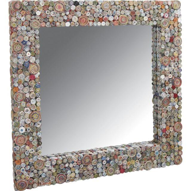 AUBRY GASPARD Grand miroir en papier recyclé Grand modèle