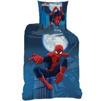 Spider-man - Housse de couette et taie d'oreiller 140x200 cm Spiderman Moonlight Polycoton