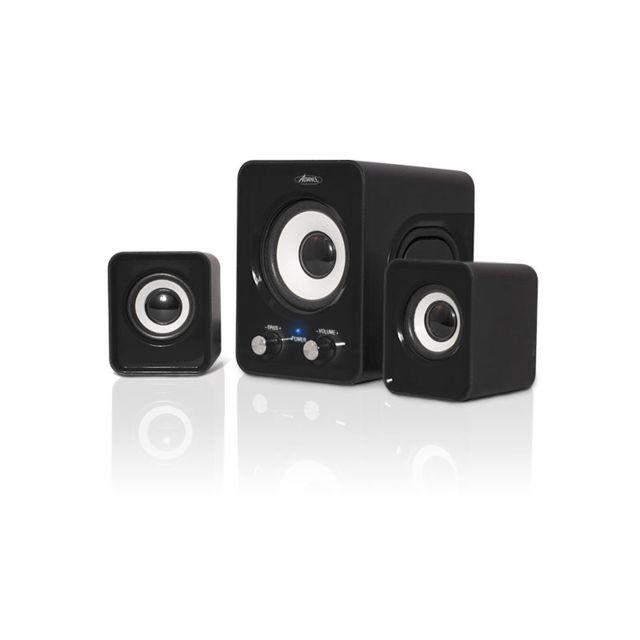 ADVANCE Enceinte soundphonic 2,1 6 W RMS SoundPhonic 2.1 Black - 6W RMS - Compact et design !