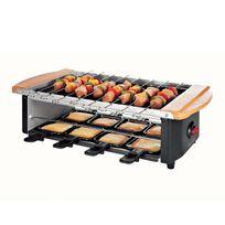 Domoclip - Set à raclette/pierre à gril/brochette pour 8 personnes max 1200W - Dom255