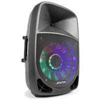 "FENTON - FT1500A Enceinte active 350W 15"" MP3 Bluetooth USB SD AUX LED LCD"