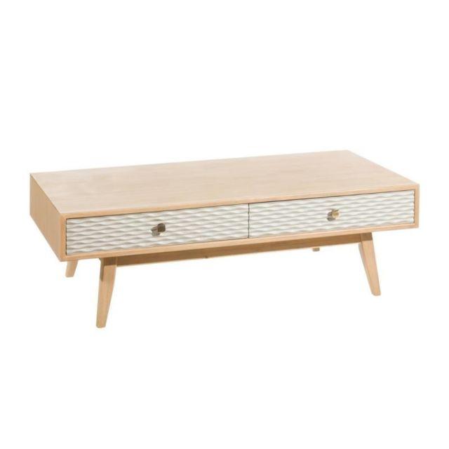 Tousmesmeubles Table basse 2 tiroirs - Wapy