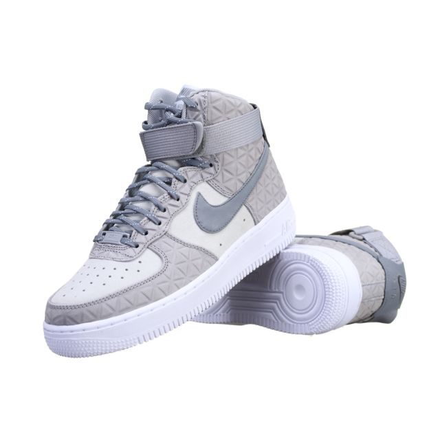 Nike - Basket W Air Force 1 Hi Prm Sued 845065 - 001 Gris - pas cher ... 8d70d3b894ae
