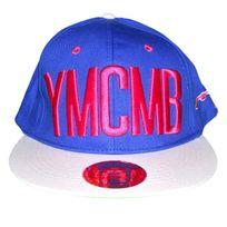Ymcmb - Casquette Snapback - Taille Réglable - Bleu Rose