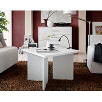 Asm-mdlt - Table basse carrée laminée blanche Piko 60x45x60 cm