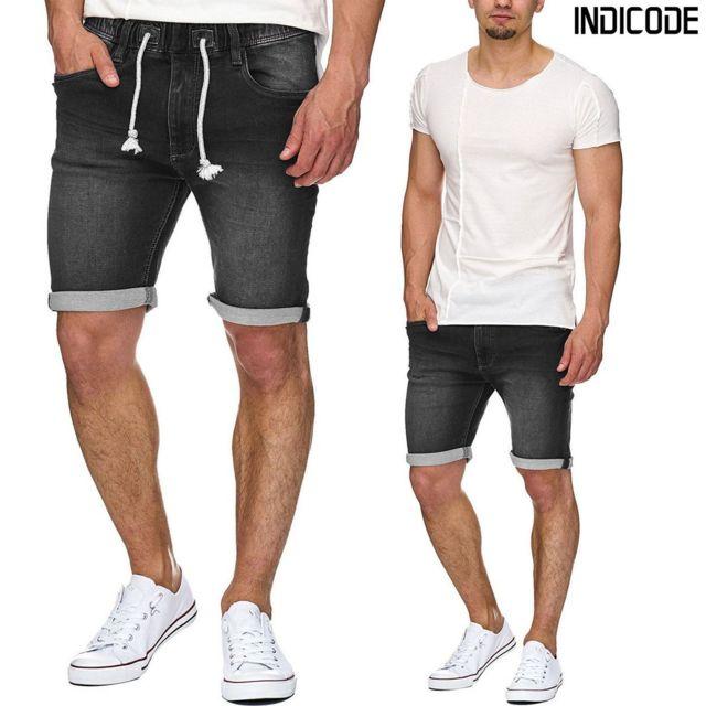 grande remise mode la plus désirable site réputé Unitif - Kadin Indicode short en jeans noir fumé stretch ...
