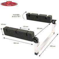 Pike'N Bass - Porte Canne Inclinable Pour Float Tube Alu/MOUSSE