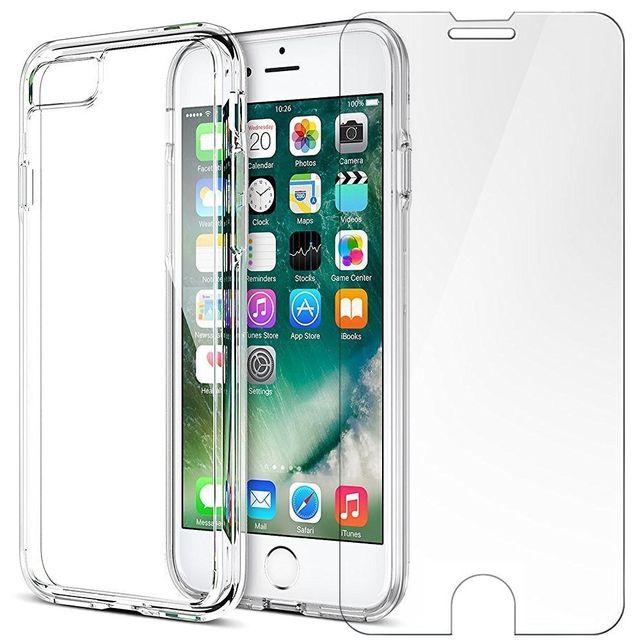 coque verre trempé iphone 7 plus