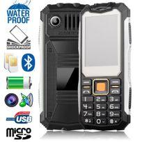 YONIS - Téléphone antichoc Double Sim Chantier 4 en 1 Etanche Portable  Solide 470c4db0dca