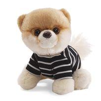 Gund - Peluche Boo avec T-shirt rayé 13 cm