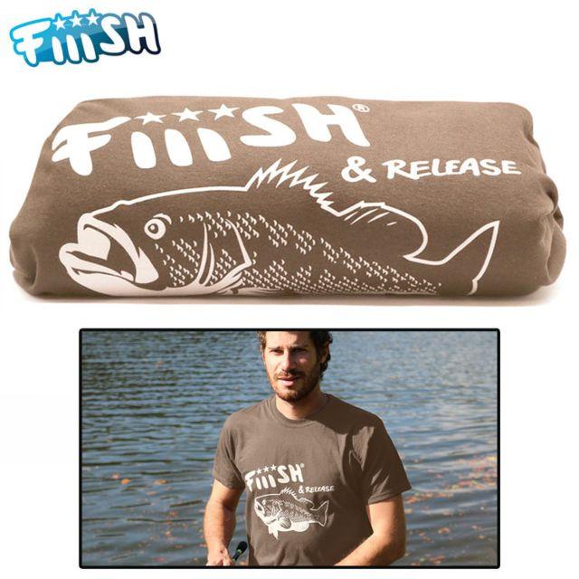 Fiiish t shirt black bass noisette