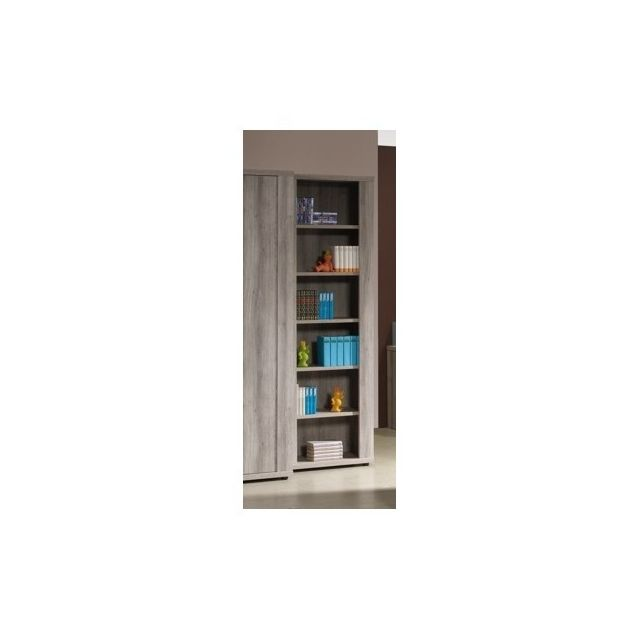 Meubles Thiry Bibliotheque Etagere Enfant Ethan Chene Gris Pas