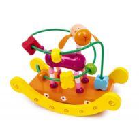 Legler - Jeu de motricité - Activités d'éveil pour enfants - Jouet en bois avec girafe sur bascule