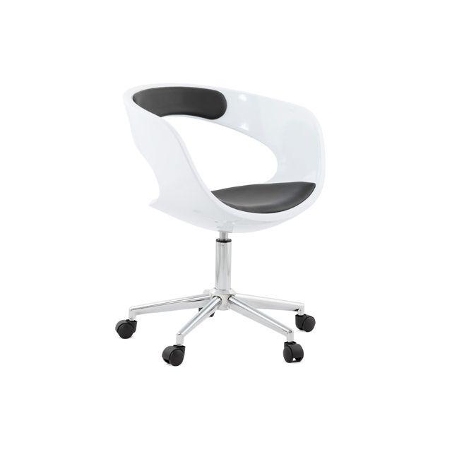 Fauteuil de bureau 57x63x80cm Felixin - noir et blanc