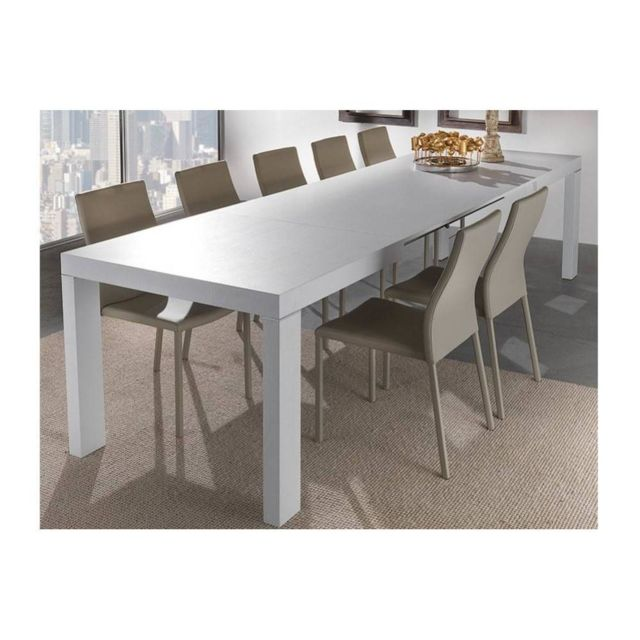 Inside 75 Table repas extensible Wind design blanche 140 cm