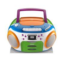 Lenco - Radio Stéréo - Lecteur Cd/MP3 - Lecteur Cassette - Radio Fm - Multicolore - Scr-97 Mp3 Kids