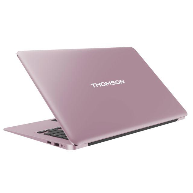 """THOMSON Neo X13C - Rose Ecran 13,3"""" Full HD IPS (dalle mate) - Epaisseur de 13,5 mm - Poids de 1,35 Kg - Châssis en aluminium - Clavier AZERTY chiclet - Haut-parleurs - Micro HDMI - USB 2.0 - USB 3.0 - Lecteur de cartes Micro SD - Webcam - Batt"""