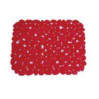 Msv - Fond d'évier galets en Pvc rouge