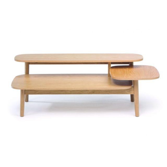 HELLIN Table basse déstructurée en bois - HELSINKI