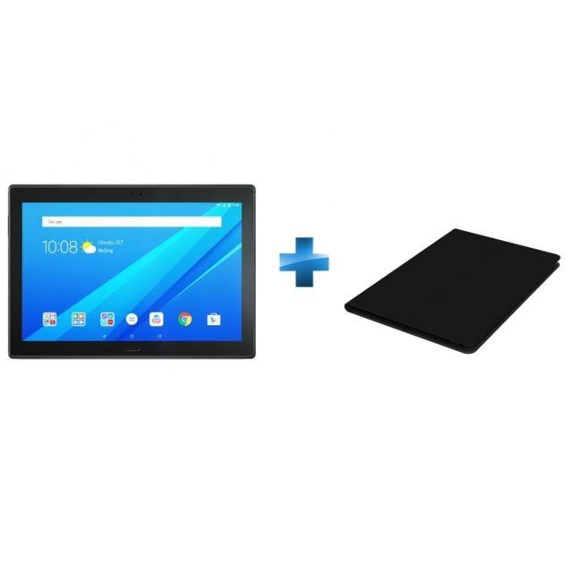 LENOVO - Tab 4 10 Plus - 10,1'' - Full HD - RAM 3 Go - Noir + Cover TAB 4