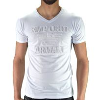 Armani - Emporio - Tshirt Manches Courtes - Homme - Ea 01 - Blanc