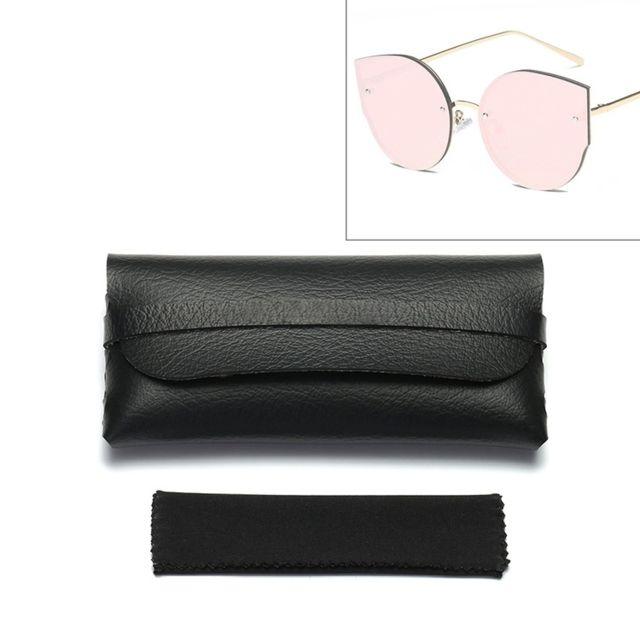Wewoo - Boitier de lunettes pour lunettes de soleil Étui de protection en  cuir ultra- 89317c0e1071