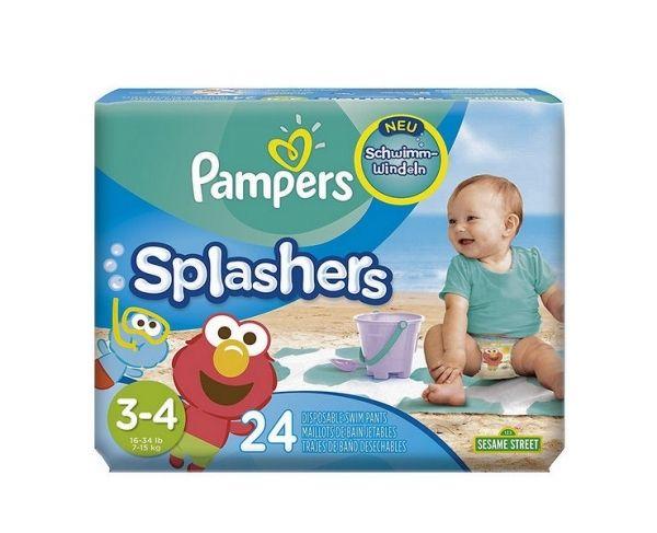 Maillots de bain 48 couches pampers splashers 7 15kg taille 3 4 plage et piscine pas cher - Couche bebe pour piscine pampers ...