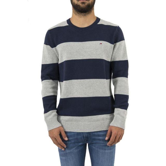 Tommy hilfiger Pull hiver tommy jeans dm0dm05063 gris
