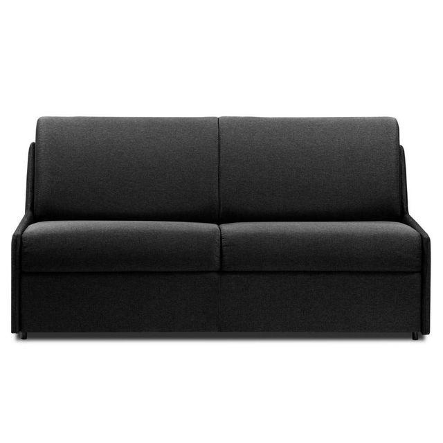 inside 75 canap convertible gain de place ouverture rapido 140cm matelas 14cm tissu neo gris. Black Bedroom Furniture Sets. Home Design Ideas