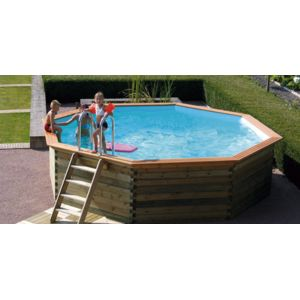 Edg piscine enterrable octogonale en bois bilbao for Piscine bois enterrable