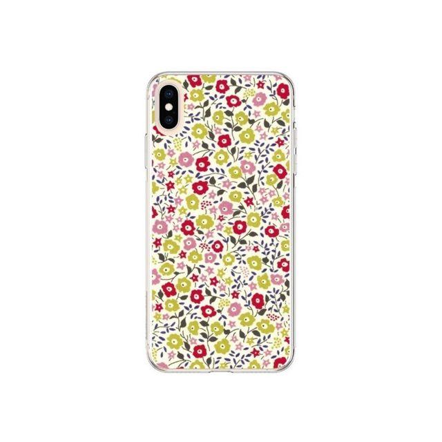 coque iphone xs max liberty fleurs nico