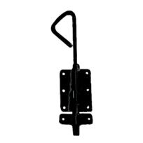 MERMIER - Verrou baïonnette avec coulisseau supplémentaire - Ø 18x1000 mm - Zinc noir - M-429812