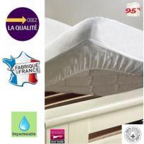 Bonareva - Alèse protège-matelas 160 x 200 cm imperméable 100% coton France