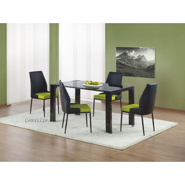 Carellia Table à manger 140 cm x 80 cm x 76 cm