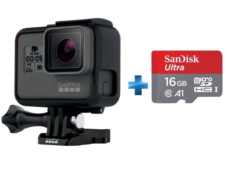HERO 5 BLACK EDITION + Carte micro SD Ultra 16 Go100MB/s C10 UHS U1 A1 Card+Adaptateur