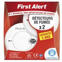 First Alert - Lot 2 détecteurs de fumée garantie 5 ans